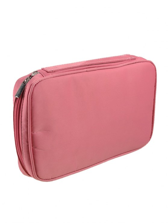 Zipper Makeup Storage Bag - PINK  Mobile