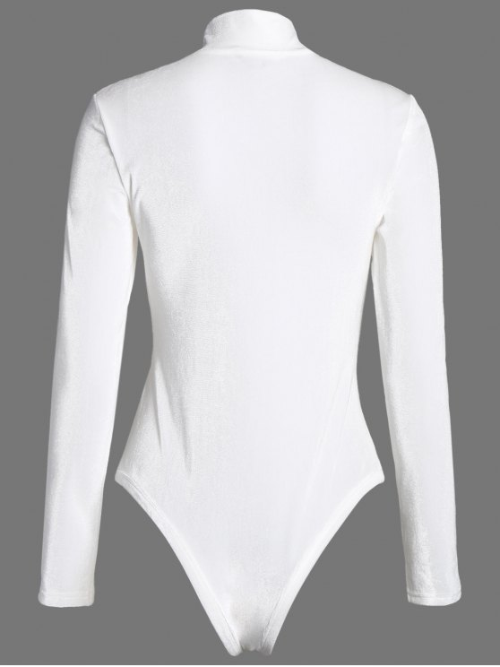 High Collar Velvet Bodysuit - OFF-WHITE 2XL Mobile