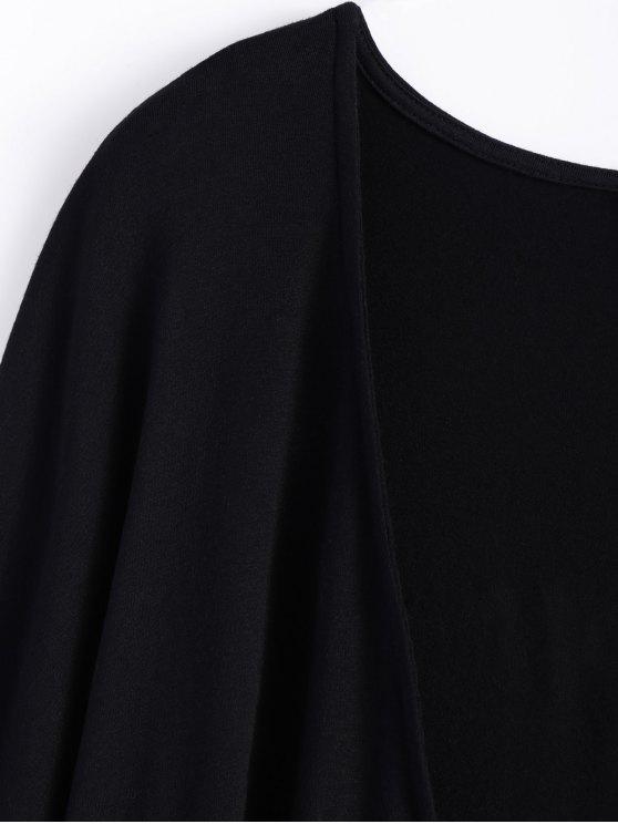 Tassel Moon Print Kimono - BLACK M Mobile
