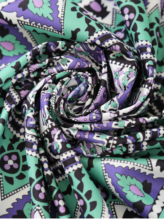 Tropical Print Sarong Beach Throw - COLORMIX ONE SIZE Mobile
