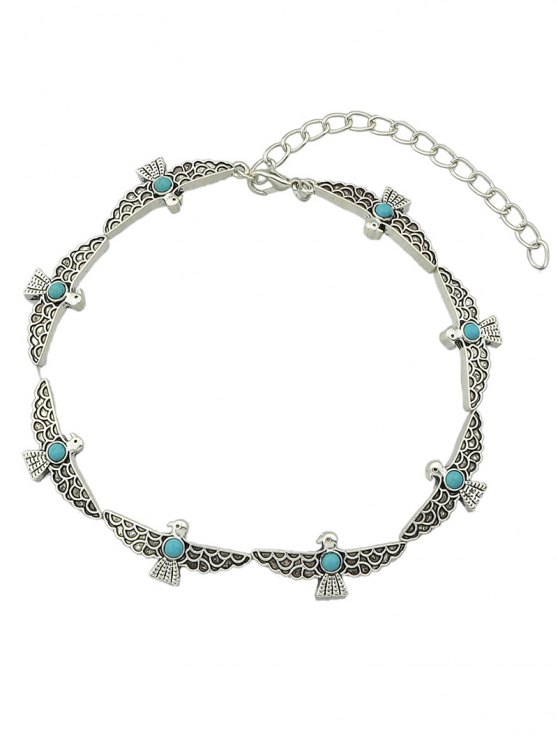 Faux Turquoise Bird Choker -   Mobile