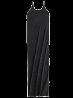 Cami Slit Sweater Dress - Black M