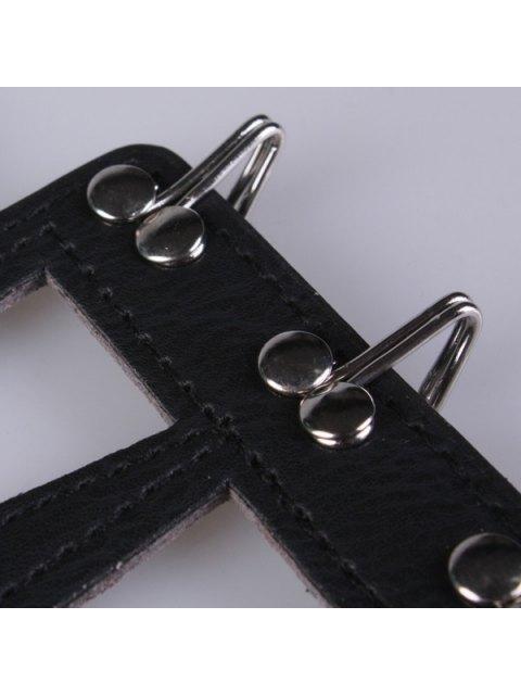 best Hollow Triangle Waist Belt - BLACK  Mobile
