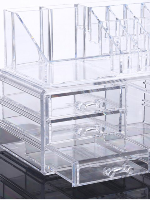 outfit Cosmetic Organizer Jewelry Box - TRANSPARENT  Mobile