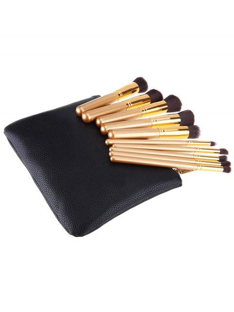 outfits 10 Pcs Makeup Brushes Kit - BLACK  Mobile