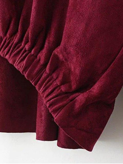 outfits Suede Elastic Hem T-Shirt - KHAKI XL Mobile