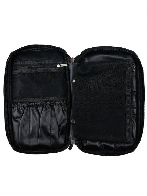 latest Zipper Makeup Storage Bag - BLACK  Mobile