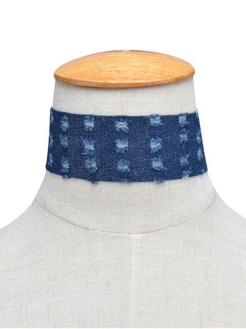online Jean Choker Collar Necklaces - DEEP BLUE  Mobile