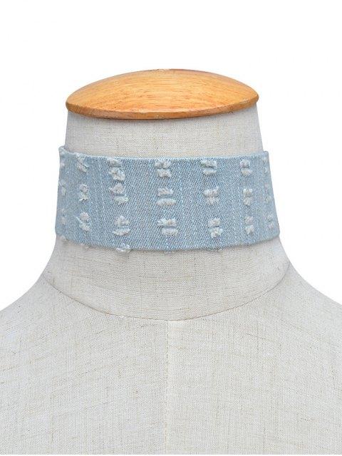 hot Jean Choker Collar Necklaces - LIGHT BLUE  Mobile