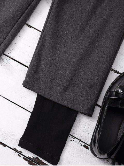 lady Elastic Waist Layered Wide Leg Pants - DEEP GRAY XL Mobile