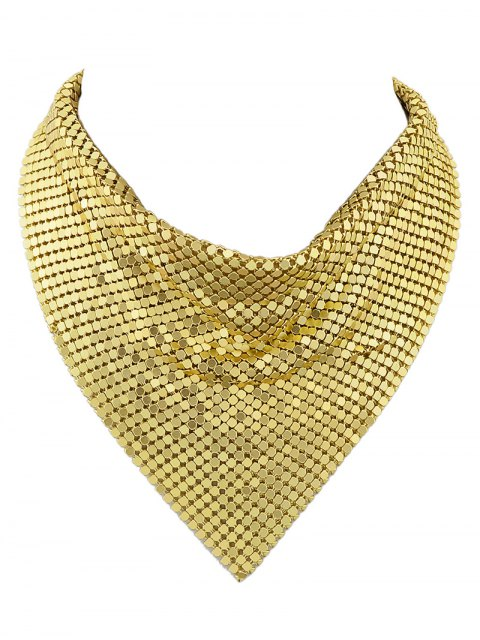 unique Metal Fake Collar Necklace - GOLDEN  Mobile