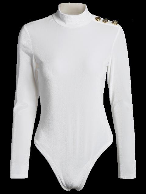 outfits High Collar Velvet Bodysuit - OFF-WHITE L Mobile