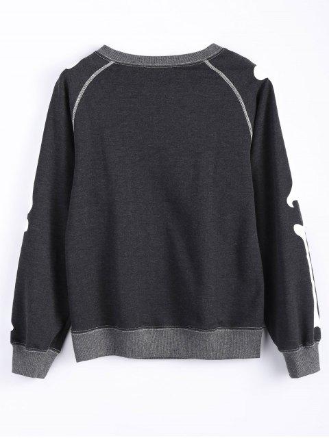 lady Loose Skeleton Sweatshirt - DEEP GRAY L Mobile
