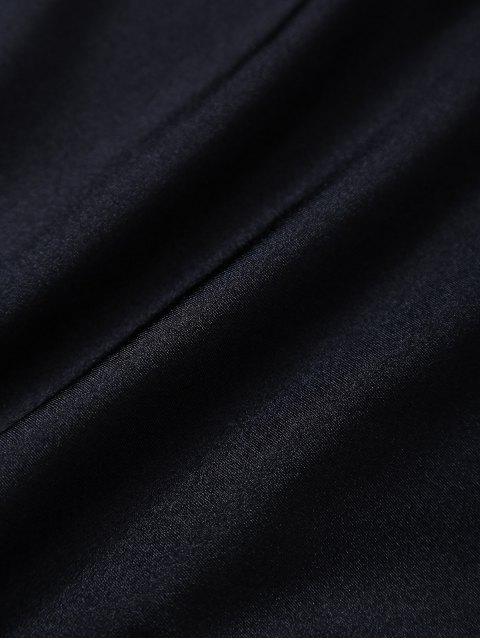 women Lettering U Neck High Cut Swimsuit - BLACK M Mobile