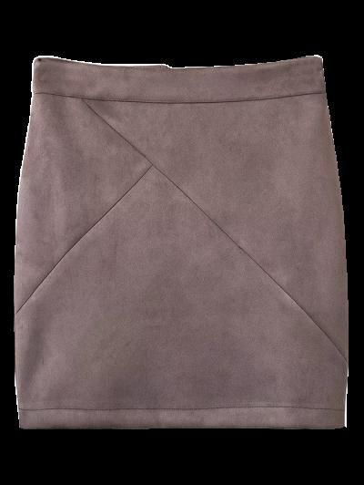 Fake Suede Mini Skirt - SMASHING M Mobile