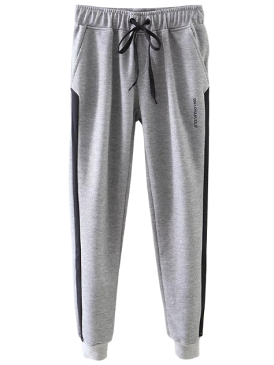 Jogger Drawstring Pants - GRAY S Mobile