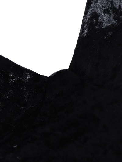 Velvet Cami Cropped Top - BLACK XL Mobile