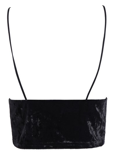 Velvet Cami Cropped Top - BLACK M Mobile