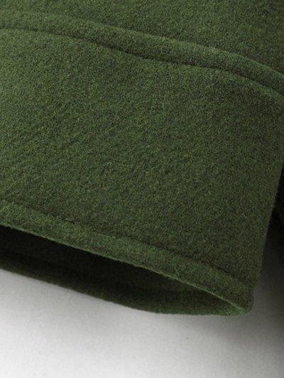 Cropped Wool Blend Bridge Coat - ARMY GREEN L Mobile