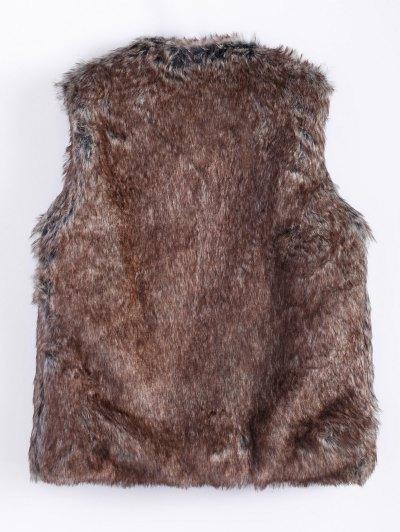 Faur Fur Winter Vest - BROWN M Mobile