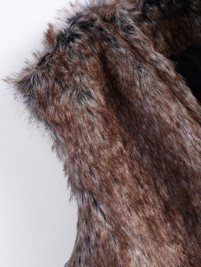 Faur Fur Winter Vest - BROWN 2XL Mobile