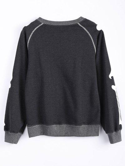Loose Skeleton Sweatshirt - BLACK S Mobile