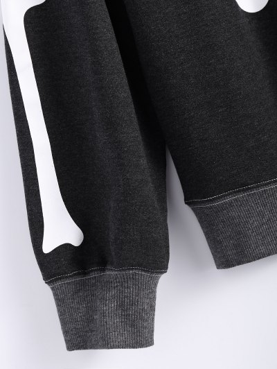 Loose Skeleton Sweatshirt - BLACK L Mobile