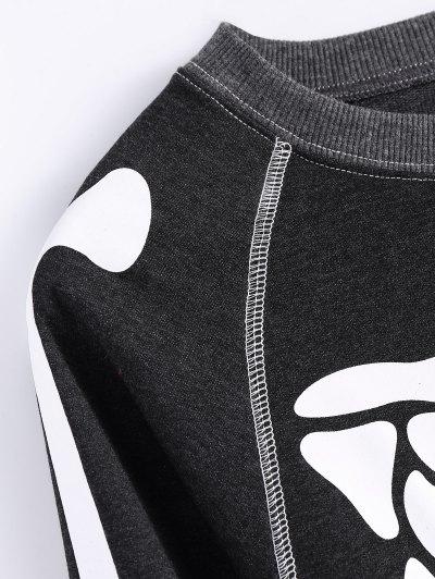 Loose Skeleton Sweatshirt - BLACK XL Mobile