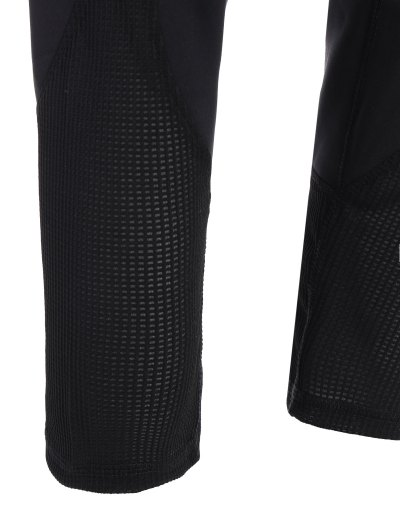 Mesh Insert Capri Leggings - BLACK M Mobile