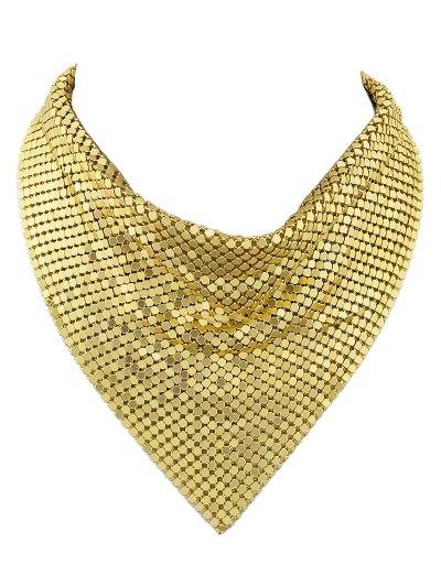 Metal Fake Collar Necklace - GOLDEN  Mobile