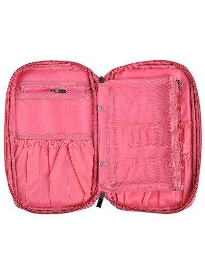 Zipper Makeup Storage Bag - PINK  Mobile