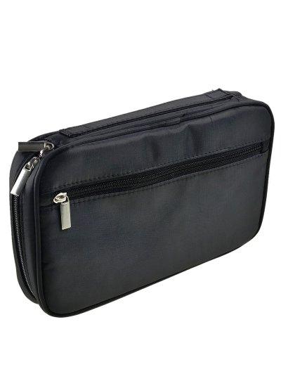 Zipper Makeup Storage Bag - BLACK  Mobile