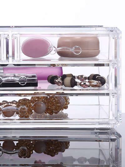 Drawer Jewelry Box - TRANSPARENT  Mobile