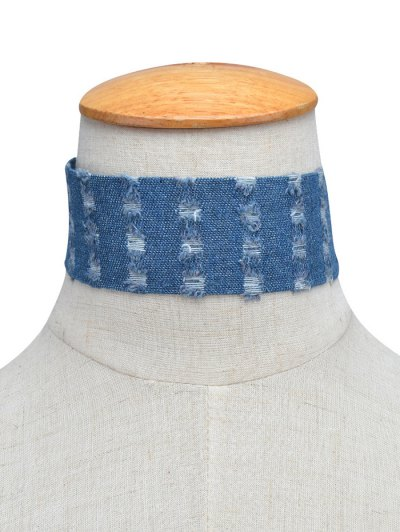 Jean Choker Collar Necklaces - BLUE  Mobile