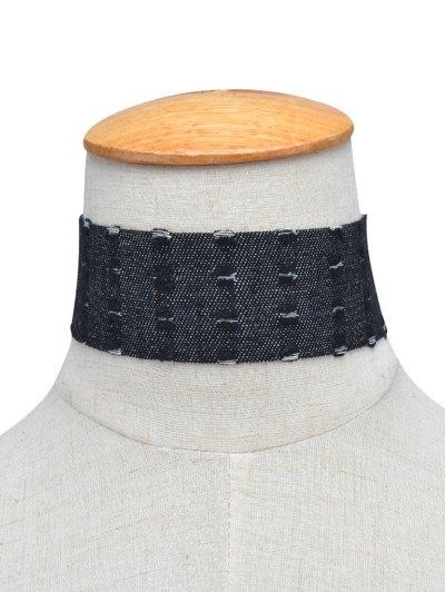 Jean Choker Collar Necklaces - BLACK  Mobile