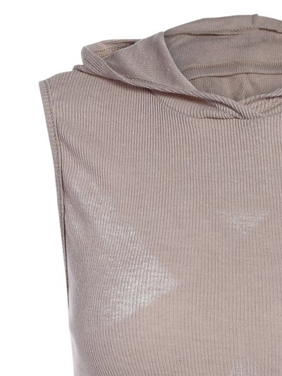 Hooded Sleeveless Top - GRAY L Mobile