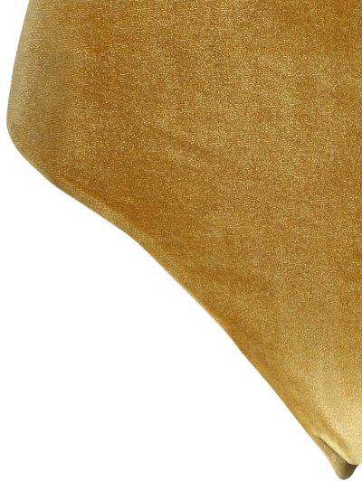 Reversible Cross Back Pleuche Swimwear - GOLD BROWN S Mobile