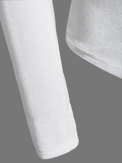 High Collar Velvet Bodysuit - OFF-WHITE 2XL Mobile