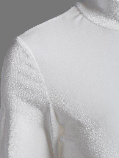 High Collar Velvet Bodysuit - OFF-WHITE M Mobile