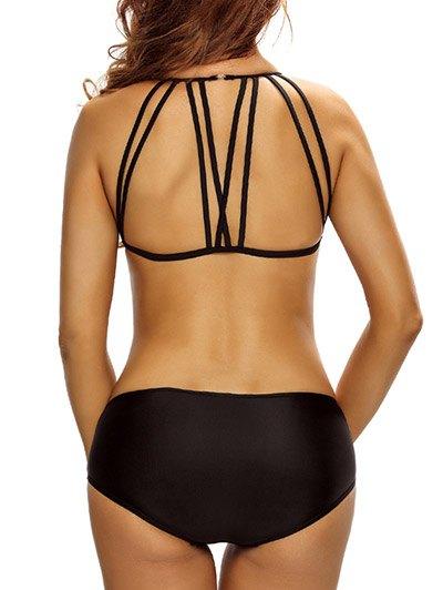 Casual Strappy Bikini Set - BLACK S Mobile