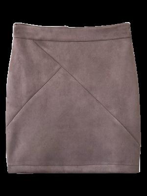 Fake Suede Mini Skirt - Smashing