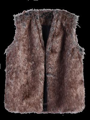 Faur Fur Winter Vest - Brown
