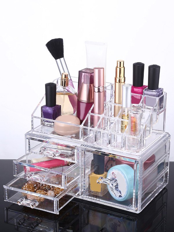 Desktop Drawer Jewelry Box Makeup Organizer