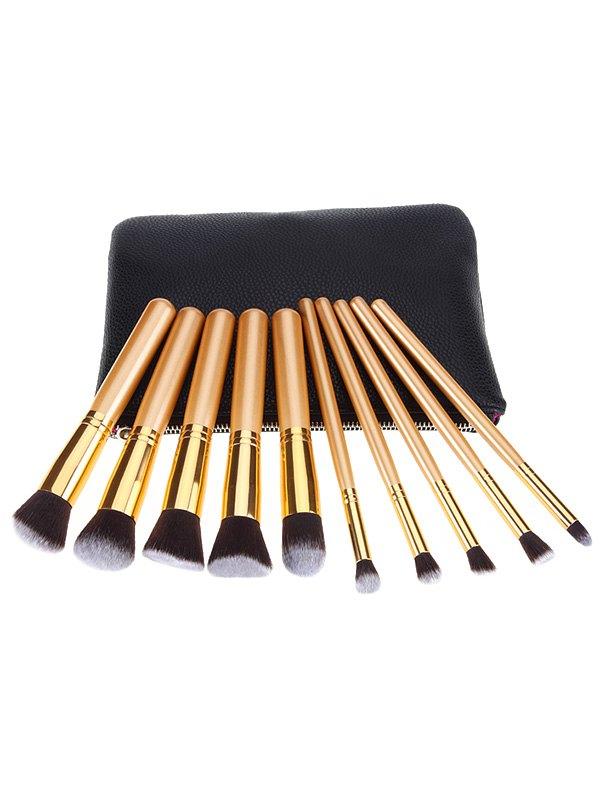 10 Pcs Nylon Makeup Brushes Set with Brush Bag