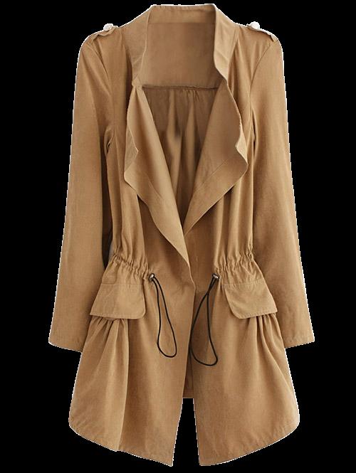 Drawstring Anorak Coat