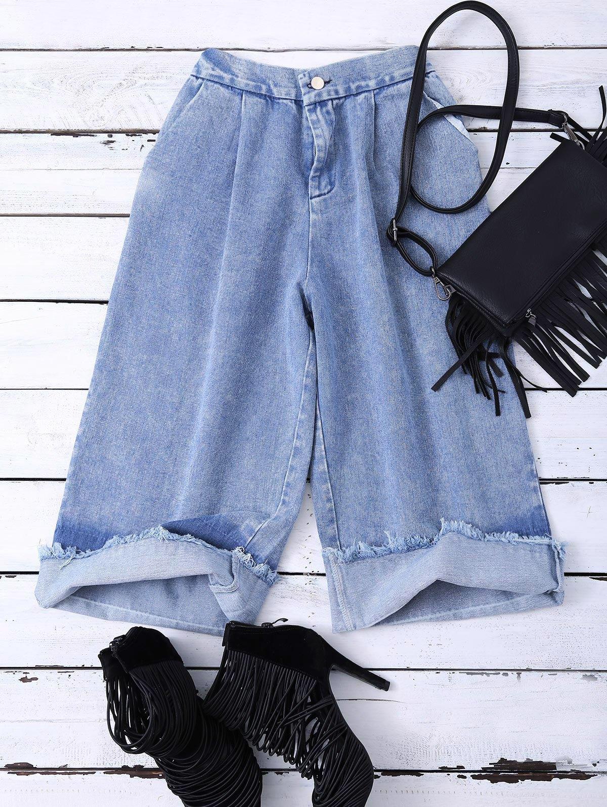 Ombre Wide Leg Jeans