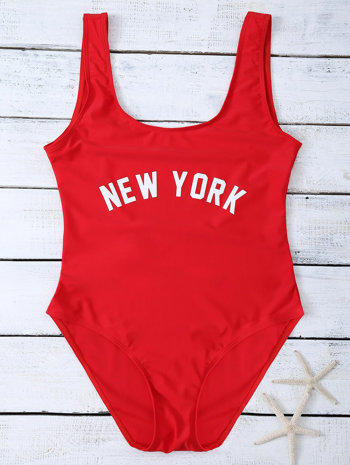 High Cut Lettering Swimsuit