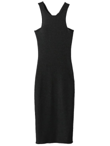 Twist Low Back Pencil Tank Dress