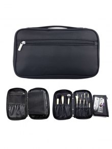 Zipper Makeup Storage Bag - Black