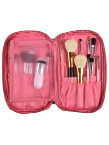 Zipper Makeup Storage Bag - Pink